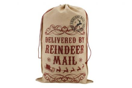 over 50% off Vintage Hessian Christmas Sacks - 2 designs
